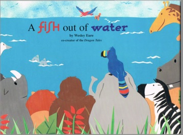 A fish out of water for A fish out of water book